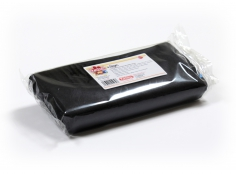 Fondant BLACK 1 Kg -   Sin gluten / Gluten-free / Sans Gluten / Senza Glutine / Sem glúten     USES:  Used for coating cakes and moulding shapes, including flowers, by adding a small amount of CMC to obtain a firmer texture.    CONSERVATION:  Store in a cool, dry place at room temperature. Keep away from sunlight. KEEP THE BAG CLOSED. Keeps very well in cold temperatures and in summer heat. Does not dry out when stored in plastic film and placed inside a covered plastic container.  Expiry date : 15 months from the date of packaging. Use before the date printed on the container.    ADVANTAGES :  Smooth, even texture . Pliable and stretchy.  Does not crack  and can be easily shaped.  Is not sticky  and can be kneaded as often as required.  Does not stick  to cutters or to plastic surfaces. A  wide range of colours . The colours are very bright and do not fade after the container is opened or after multiple uses. Has a mild  vanilla scent . Excellent taste; all of the colours taste of vanilla rather than sugar.  Soft without being gooey  or grainy.    INSTRUCTIONS FOR USE:      Should be handled preferably on a plastic surface. The use of icing sugar is not required as Kelmy fondant does not stick to this surface.   Thoroughly knead the Kelmy fondant by hand until it is soft and smooth.           NUTRITION INFORMATION    Per 100 g       ENERGY   1630/384 (kj/kcal)       FAT   3,2 g       OF WHICH SATURATES   1,6 g       CARBOHYDRATE   89 g       OF WHICH SUGARS   77 g       PROTEIN   0,5 g       SALT   0,1 g          Amount of Sugar Paste required to coat a cake  Estimate based on 10 cm high by 5 cm wide portions.             How much fondant do I need?         Size of Cake     Round Cakes    Portions    Square Cakes    Portions       15 cm   500 g   12   750 g   18       18 cm   750 g   17   1 kg   26       20 cm   1 kg   20   1,250 kg   32       23 cm   1,250 kg   30   1,500 kg   38       25 cm   1,500 kg   34   1,750 kg   46       28 cm   1,750 kg   40   2 kg   60  