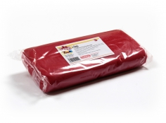 Fondant RED 1 Kg -   Sin gluten / Gluten-free / Sans Gluten / Senza Glutine / Sem glúten     USES:  Used for coating cakes and moulding shapes, including flowers, by adding a small amount of CMC to obtain a firmer texture.    CONSERVATION:  Store in a cool, dry place at room temperature. Keep away from sunlight. KEEP THE BAG CLOSED. Keeps very well in cold temperatures and in summer heat. Does not dry out when stored in plastic film and placed inside a covered plastic container.  Expiry date : 15 months from the date of packaging. Use before the date printed on the container.    ADVANTAGES :  Smooth, even texture . Pliable and stretchy.  Does not crack  and can be easily shaped.  Is not sticky  and can be kneaded as often as required.  Does not stick  to cutters or to plastic surfaces. A  wide range of colours . The colours are very bright and do not fade after the container is opened or after multiple uses. Has a mild  vanilla scent . Excellent taste; all of the colours taste of vanilla rather than sugar.  Soft without being gooey  or grainy.    INSTRUCTIONS FOR USE:      Should be handled preferably on a plastic surface. The use of icing sugar is not required as Kelmy fondant does not stick to this surface.   Thoroughly knead the Kelmy fondant by hand until it is soft and smooth.           NUTRITION INFORMATION    Per 100 g       ENERGY   1630/384 (kj/kcal)       FAT   3,2 g       OF WHICH SATURATES   1,6 g       CARBOHYDRATE   89 g       OF WHICH SUGARS   77 g       PROTEIN   0,5 g       SALT   0,1 g          Amount of Sugar Paste required to coat a cake  Estimate based on 10 cm high by 5 cm wide portions.             How much fondant do I need?         Size of Cake     Round Cakes    Portions    Square Cakes    Portions       15 cm   500 g   12   750 g   18       18 cm   750 g   17   1 kg   26       20 cm   1 kg   20   1,250 kg   32       23 cm   1,250 kg   30   1,500 kg   38       25 cm   1,500 kg   34   1,750 kg   46       28 cm   1,750 kg   40   2 kg   60    