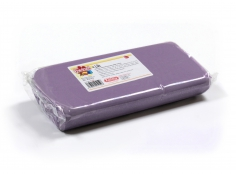 Fondant LILAC 1 Kg -   Sin gluten / Gluten-free / Sans Gluten / Senza Glutine / Sem glúten     USES:  Used for coating cakes and moulding shapes, including flowers, by adding a small amount of CMC to obtain a firmer texture.    CONSERVATION:  Store in a cool, dry place at room temperature. Keep away from sunlight. KEEP THE BAG CLOSED. Keeps very well in cold temperatures and in summer heat. Does not dry out when stored in plastic film and placed inside a covered plastic container.  Expiry date : 15 months from the date of packaging. Use before the date printed on the container.    ADVANTAGES :  Smooth, even texture . Pliable and stretchy.  Does not crack  and can be easily shaped.  Is not sticky  and can be kneaded as often as required.  Does not stick  to cutters or to plastic surfaces. A  wide range of colours . The colours are very bright and do not fade after the container is opened or after multiple uses. Has a mild  vanilla scent . Excellent taste; all of the colours taste of vanilla rather than sugar.  Soft without being gooey  or grainy.    INSTRUCTIONS FOR USE:      Should be handled preferably on a plastic surface. The use of icing sugar is not required as Kelmy fondant does not stick to this surface.   Thoroughly knead the Kelmy fondant by hand until it is soft and smooth.           NUTRITION INFORMATION    Per 100 g       ENERGY   1630/384 (kj/kcal)       FAT   3,2 g       OF WHICH SATURATES   1,6 g       CARBOHYDRATE   89 g       OF WHICH SUGARS   77 g       PROTEIN   0,5 g       SALT   0,1 g          Amount of Sugar Paste required to coat a cake  Estimate based on 10 cm high by 5 cm wide portions.             How much fondant do I need?         Size of Cake     Round Cakes    Portions    Square Cakes    Portions       15 cm   500 g   12   750 g   18       18 cm   750 g   17   1 kg   26       20 cm   1 kg   20   1,250 kg   32       23 cm   1,250 kg   30   1,500 kg   38       25 cm   1,500 kg   34   1,750 kg   46       28 cm   1,750 kg   40   2 kg   60  