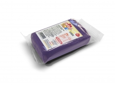 Fondant VIOLET 100 g -   Sin gluten / Gluten-free / Sans Gluten / Senza Glutine / Sem glúten     USES:  Used for coating cakes and moulding shapes, including flowers, by adding a small amount of CMC to obtain a firmer texture.    CONSERVATION:  Store in a cool, dry place at room temperature. Keep away from sunlight. KEEP THE BAG CLOSED. Keeps very well in cold temperatures and in summer heat. Does not dry out when stored in plastic film and placed inside a covered plastic container.  Expiry date : 15 months from the date of packaging. Use before the date printed on the container.    ADVANTAGES :  Smooth, even texture . Pliable and stretchy.  Does not crack  and can be easily shaped.  Is not sticky  and can be kneaded as often as required.  Does not stick  to cutters or to plastic surfaces. A  wide range of colours . The colours are very bright and do not fade after the container is opened or after multiple uses. Has a mild  vanilla scent . Excellent taste; all of the colours taste of vanilla rather than sugar.  Soft without being gooey  or grainy.    INSTRUCTIONS FOR USE:      Should be handled preferably on a plastic surface. The use of icing sugar is not required as Kelmy fondant does not stick to this surface.   Thoroughly knead the Kelmy fondant by hand until it is soft and smooth.           NUTRITION INFORMATION    Per 100 g       ENERGY   1620/382 (kj/kcal)       FAT   2,4g       OF WHICH SATURATES   1,3g       CARBOHYDRATE   90g       OF WHICH SUGARS   84g       PROTEIN   0,5 g       SALT   0,1 g          Amount of Sugar Paste required to coat a cake  Estimate based on 10 cm high by 5 cm wide portions.             How much fondant do I need?         Size of Cake     Round Cakes    Portions    Square Cakes    Portions       15 cm   500 g   12   750 g   18       18 cm   750 g   17   1 kg   26       20 cm   1 kg   20   1,250 kg   32       23 cm   1,250 kg   30   1,500 kg   38       25 cm   1,500 kg   34   1,750 kg   46       28 cm   1,750 kg   40   2 kg   60    